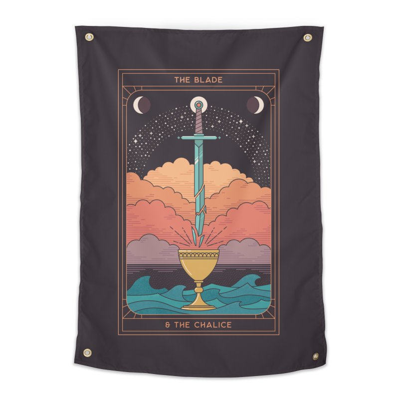 The Blade And The Chalice Home Tapestry by thepapercrane's shop