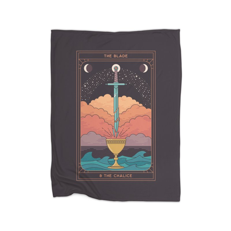 The Blade And The Chalice Home Blanket by thepapercrane's shop