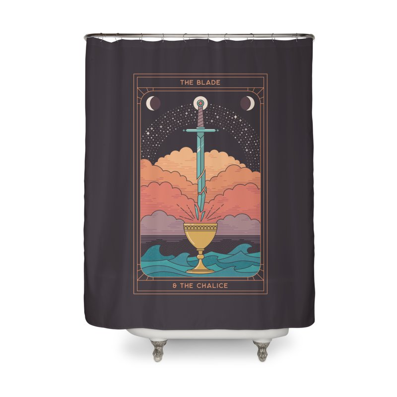 The Blade And The Chalice Home Shower Curtain by thepapercrane's shop