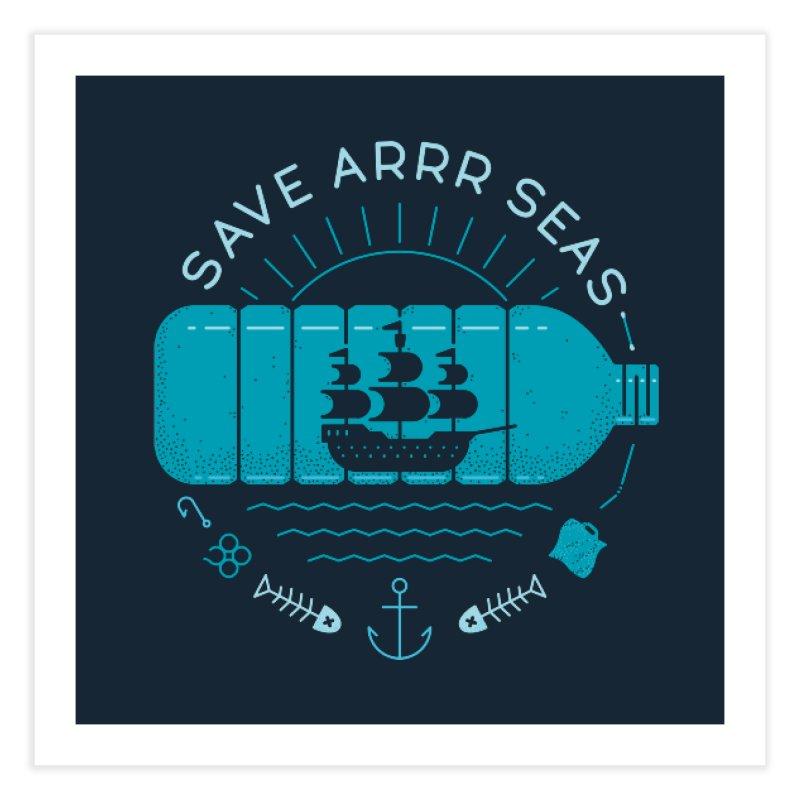 Save Arrr Seas Home Fine Art Print by thepapercrane's shop