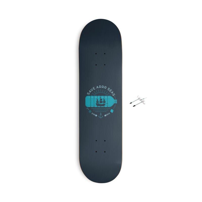 Save Arrr Seas Accessories Skateboard by thepapercrane's shop