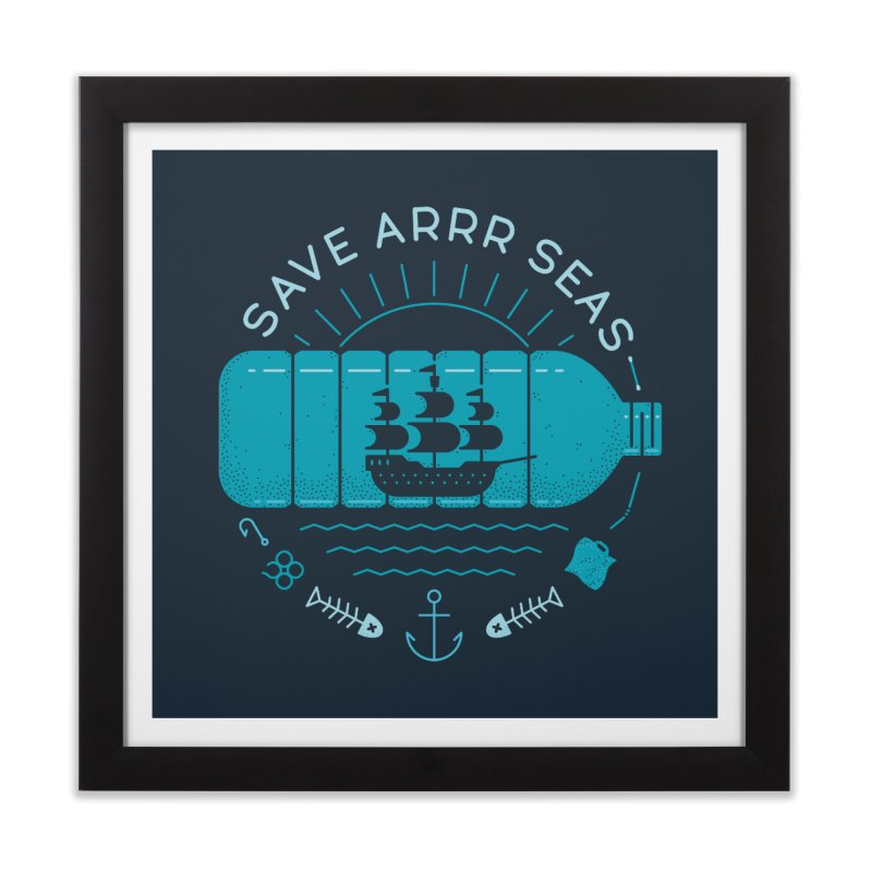 Save Arrr Seas Home Framed Fine Art Print by thepapercrane's shop