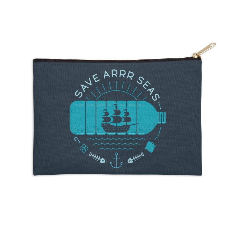Save Arrr Seas Accessories Zip Pouch by thepapercrane's shop