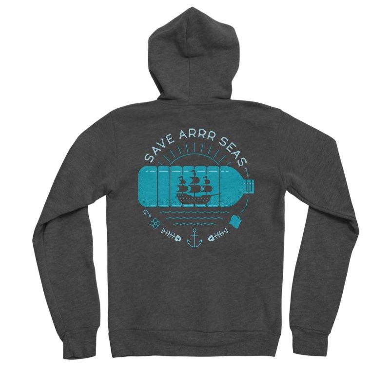Save Arrr Seas Men's Zip-Up Hoody by thepapercrane's shop