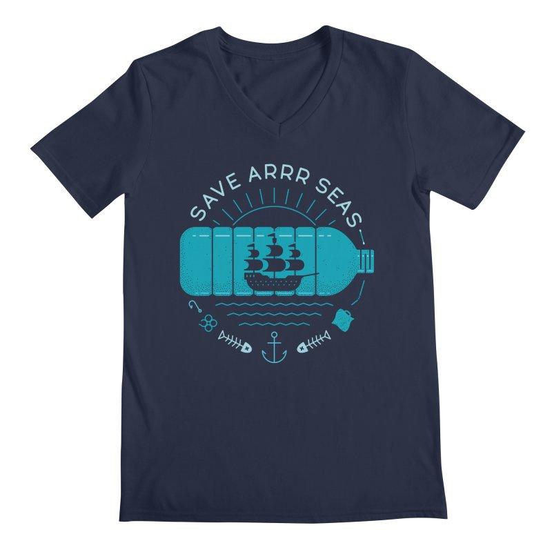 Save Arrr Seas Men's V-Neck by thepapercrane's shop