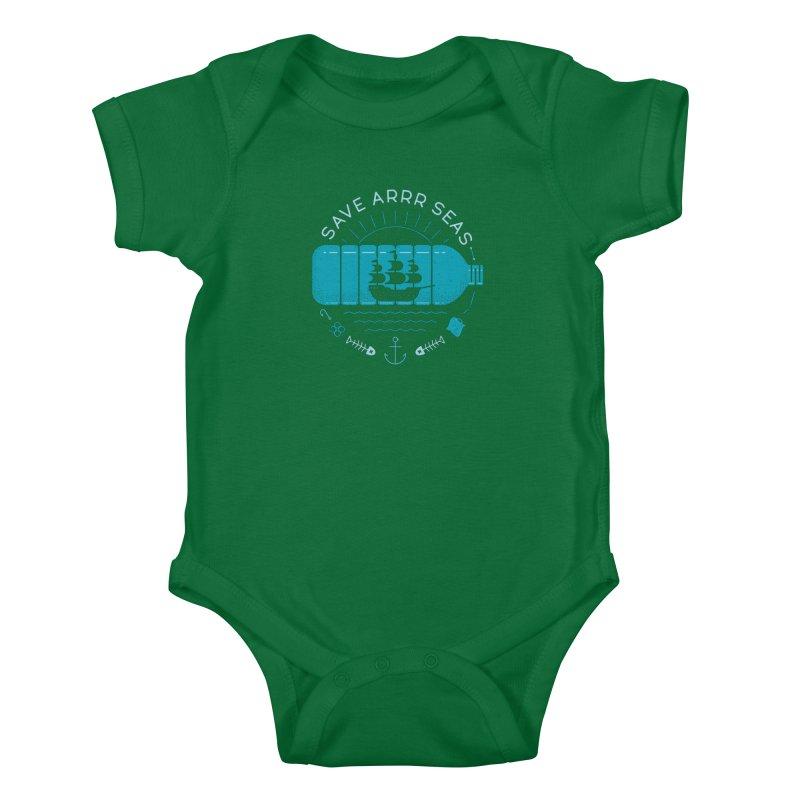 Save Arrr Seas Kids Baby Bodysuit by thepapercrane's shop