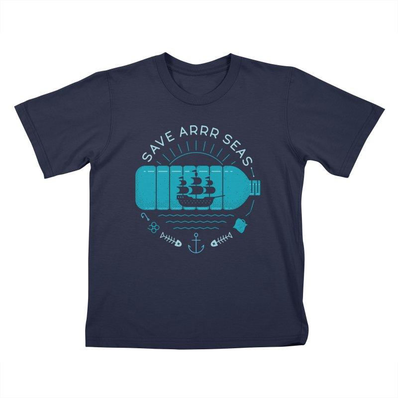 Save Arrr Seas Kids T-Shirt by thepapercrane's shop
