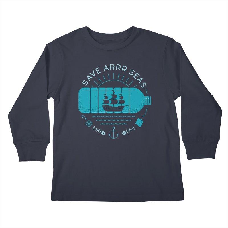 Save Arrr Seas Kids Longsleeve T-Shirt by thepapercrane's shop
