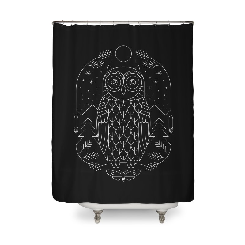 Night Life Home Shower Curtain by thepapercrane's shop