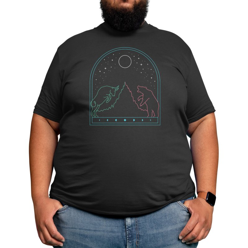 The Bull And The Bear Men's T-Shirt by thepapercrane's shop