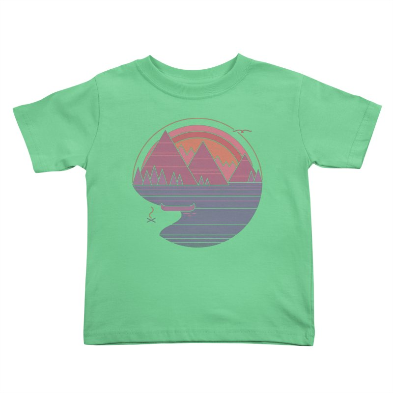 The Mountains Are Calling Kids Toddler T-Shirt by thepapercrane's shop
