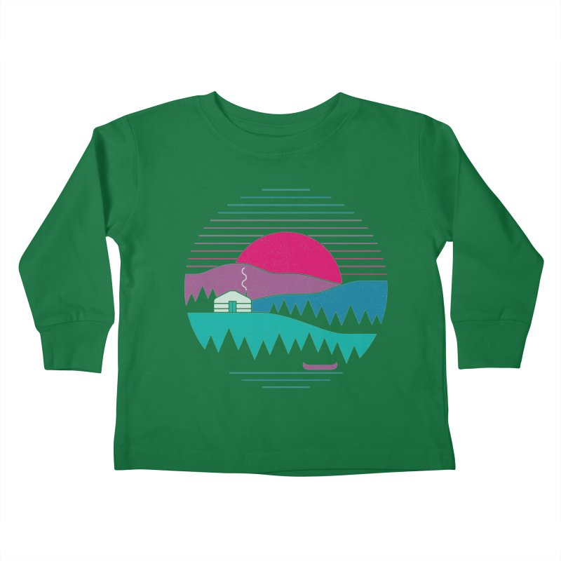 Back to Basics Kids Toddler Longsleeve T-Shirt by thepapercrane's shop