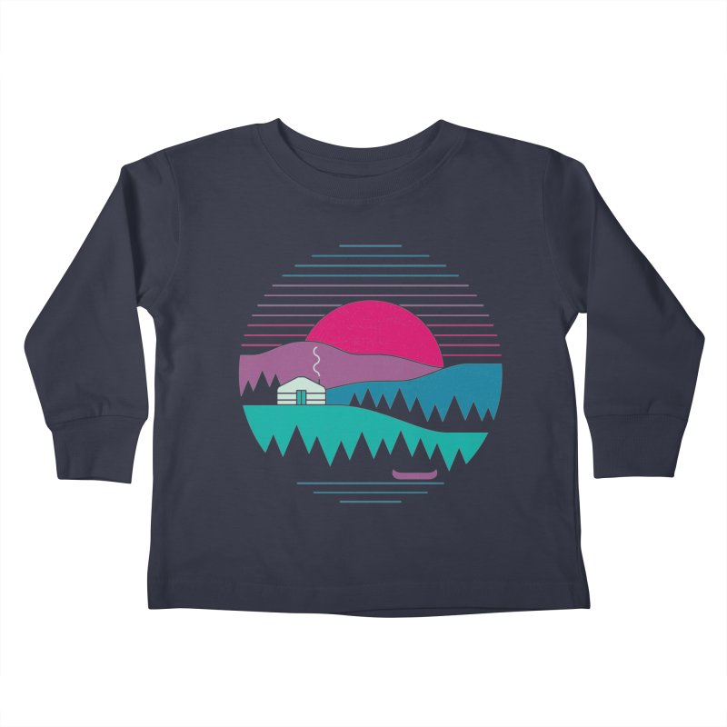 Back to Basics Kids Toddler Longsleeve T-Shirt by thepapercrane's shop