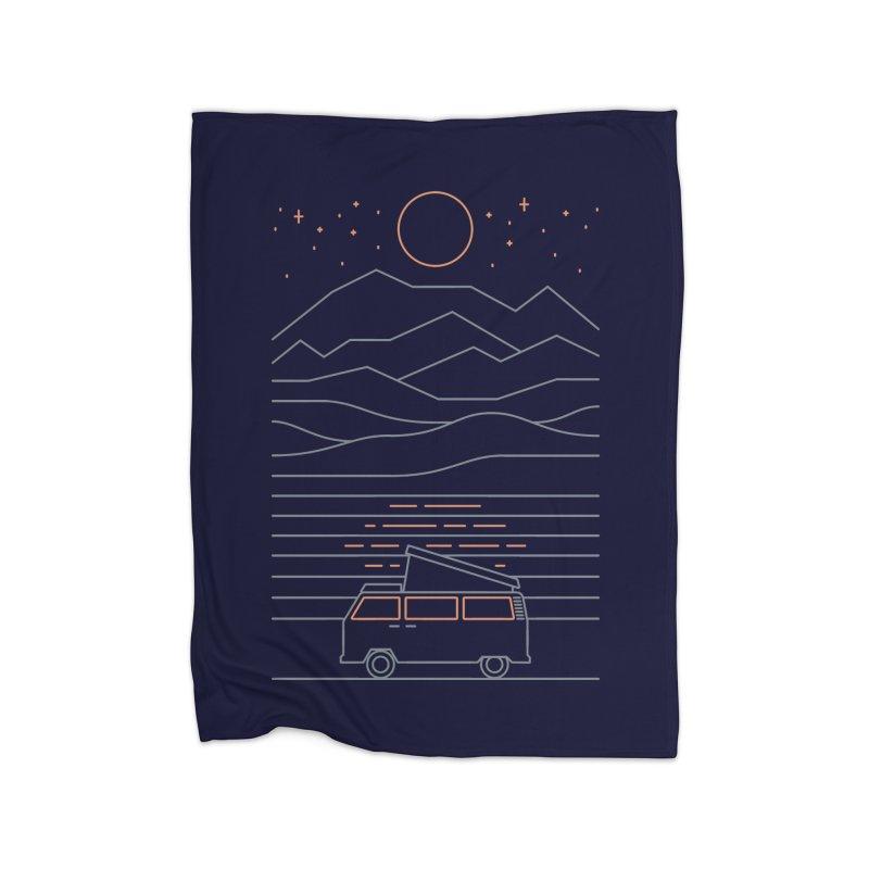 Van Life Home Fleece Blanket by thepapercrane's shop