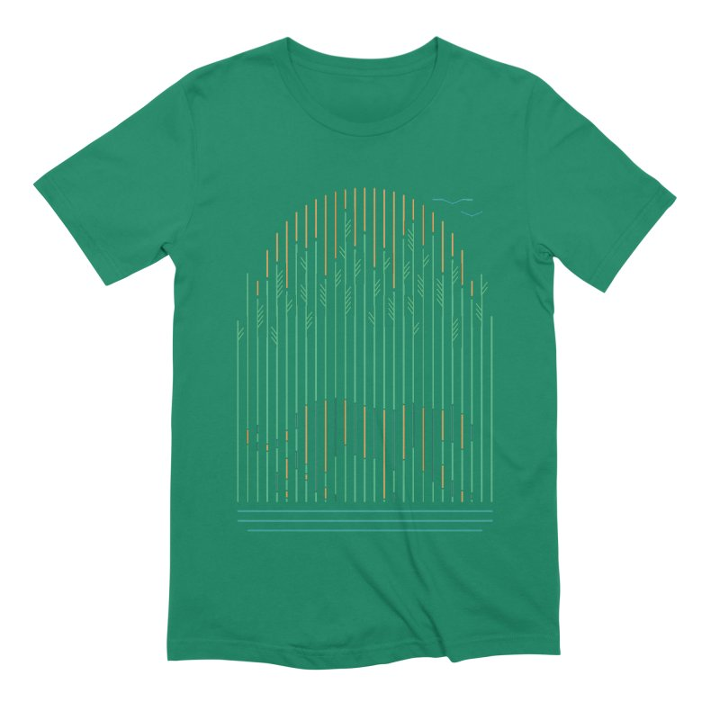 Tiger In The Grass Men's Extra Soft T-Shirt by thepapercrane's shop