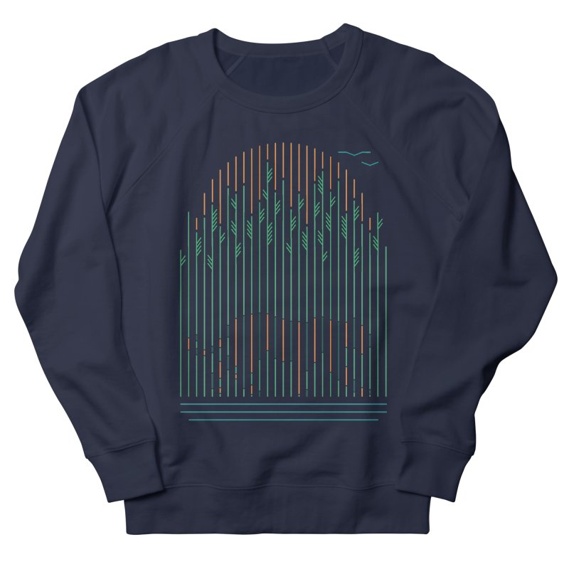 Tiger In The Grass Men's French Terry Sweatshirt by thepapercrane's shop