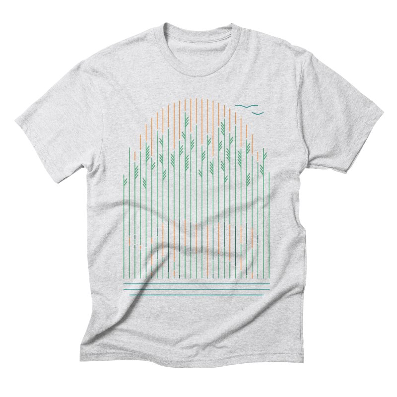 Tiger In The Grass Men's Triblend T-Shirt by thepapercrane's shop