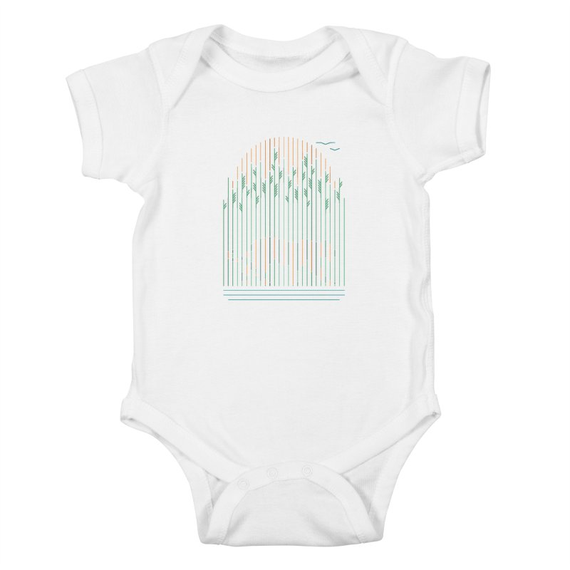 Tiger In The Grass Kids Baby Bodysuit by thepapercrane's shop