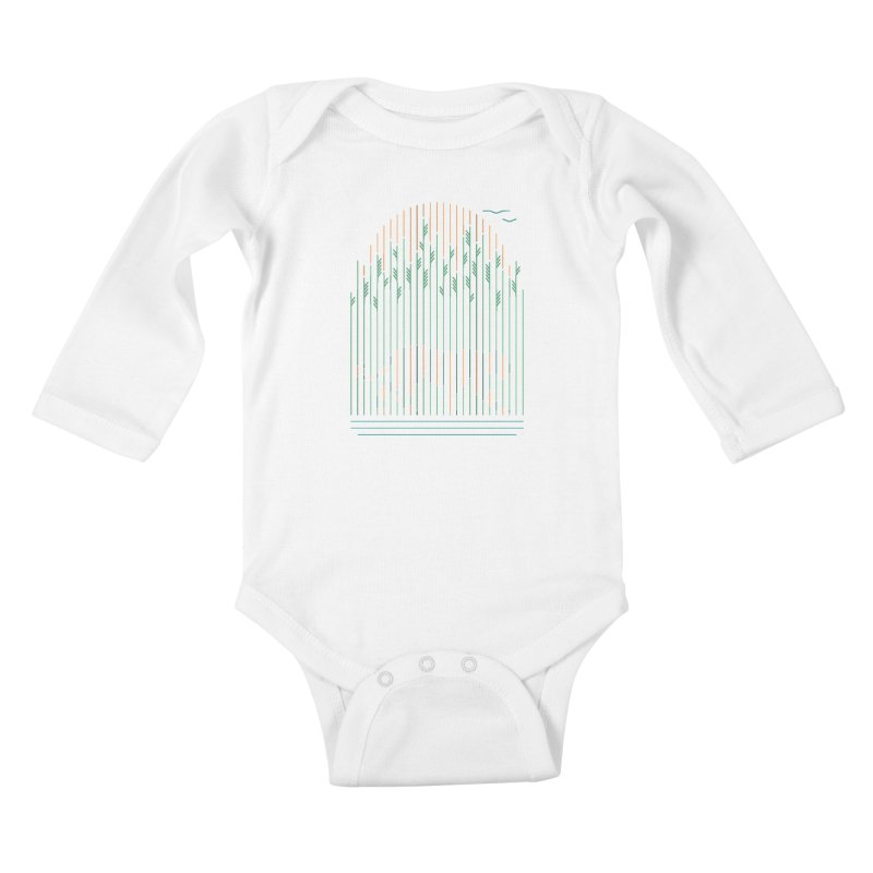 Tiger In The Grass Kids Baby Longsleeve Bodysuit by thepapercrane's shop