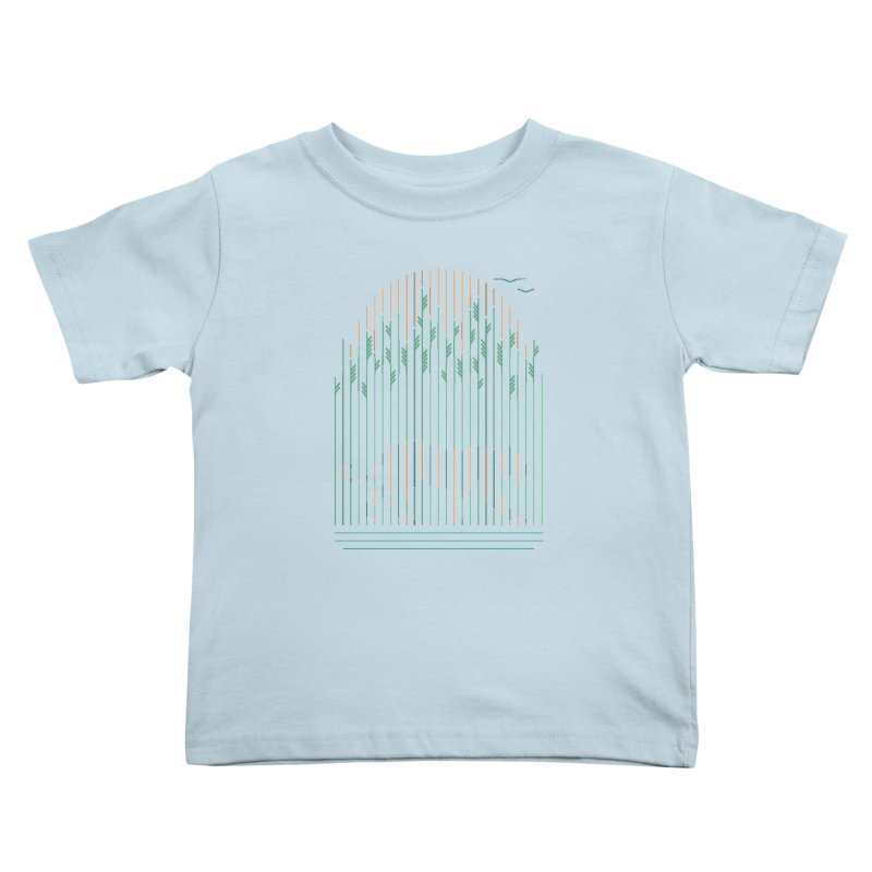 Tiger In The Grass Kids Toddler T-Shirt by thepapercrane's shop