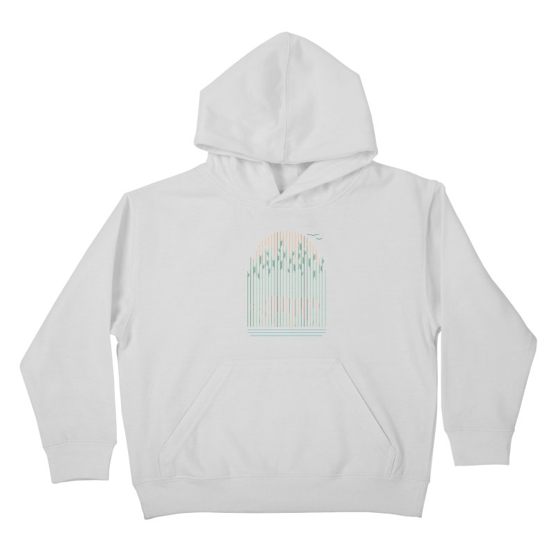 Tiger In The Grass Kids Pullover Hoody by thepapercrane's shop