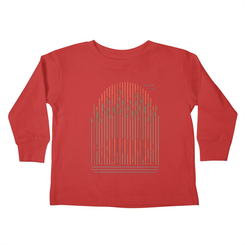 Tiger In The Grass Kids Toddler Longsleeve T-Shirt by thepapercrane's shop
