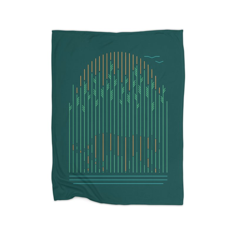 Tiger In The Grass Home Fleece Blanket by thepapercrane's shop