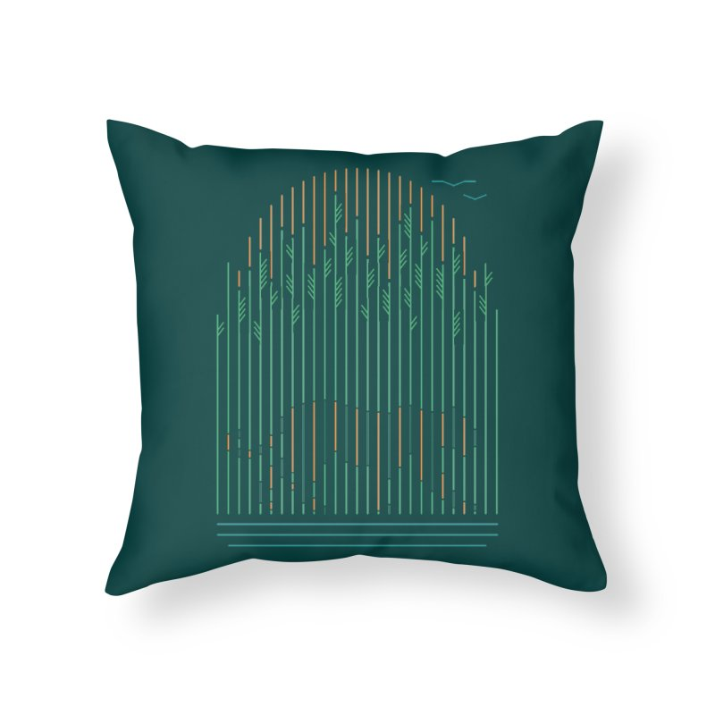 Tiger In The Grass Home Throw Pillow by thepapercrane's shop