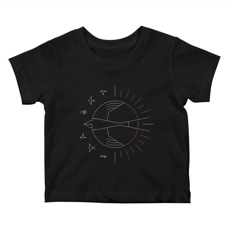 Swallow The Sun Kids Baby T-Shirt by thepapercrane's shop