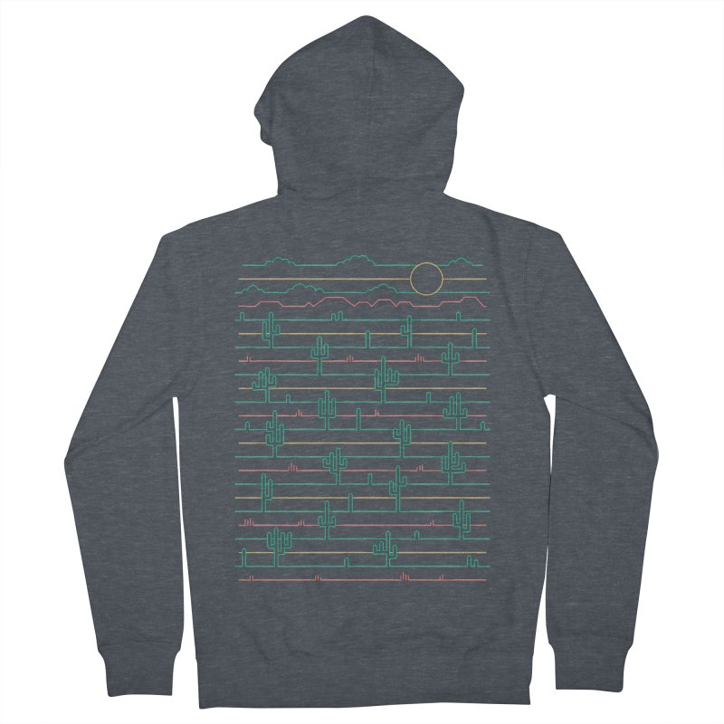 Saguaro Sunrise Men's French Terry Zip-Up Hoody by thepapercrane's shop