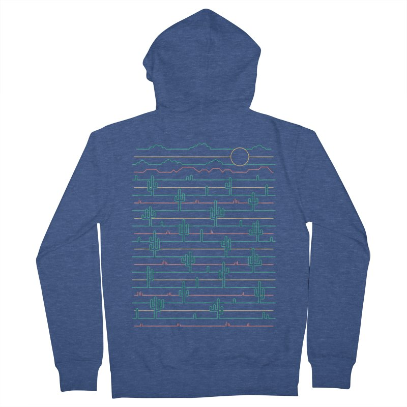 Saguaro Sunrise Men's Zip-Up Hoody by thepapercrane's shop