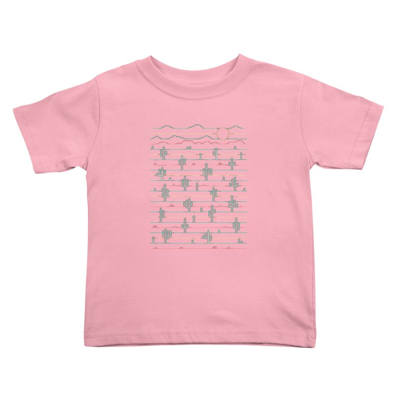Saguaro Sunrise Kids Toddler T-Shirt by thepapercrane's shop