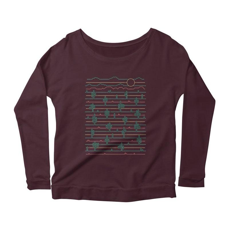 Saguaro Sunrise Women's Scoop Neck Longsleeve T-Shirt by thepapercrane's shop