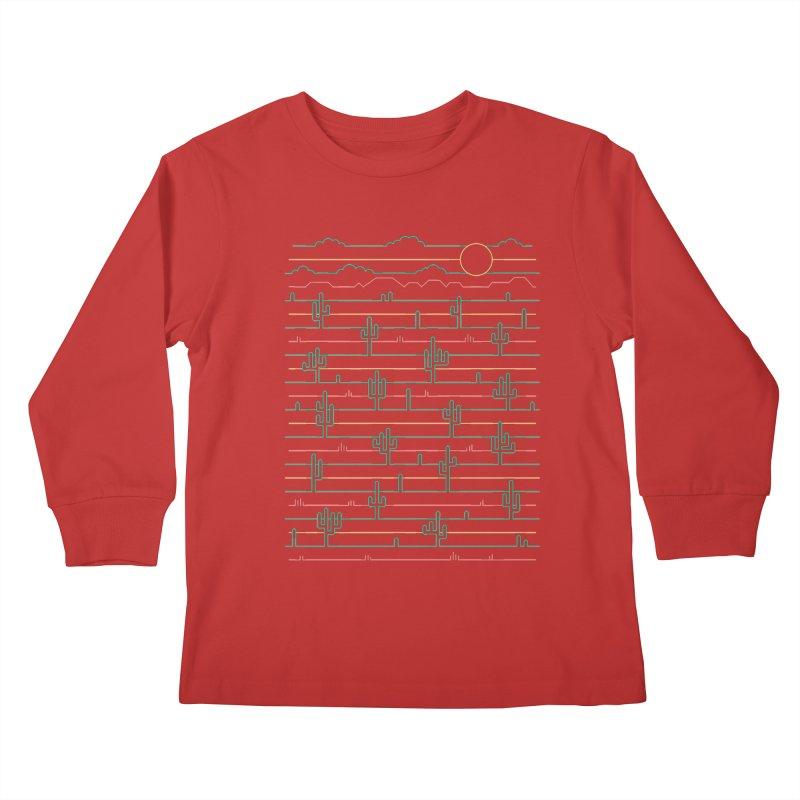 Saguaro Sunrise Kids Longsleeve T-Shirt by thepapercrane's shop