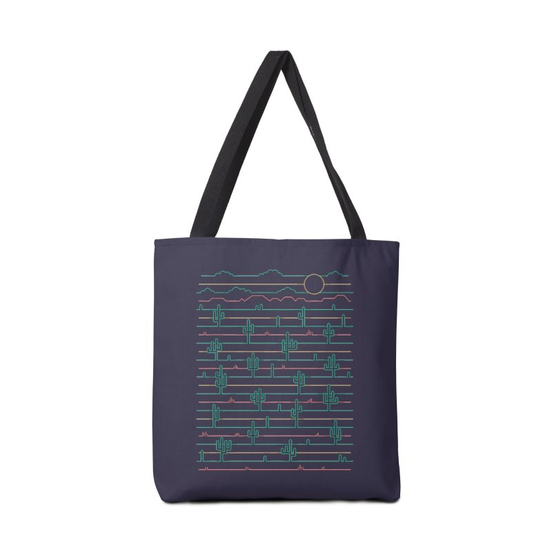 Saguaro Sunrise Accessories Tote Bag Bag by thepapercrane's shop