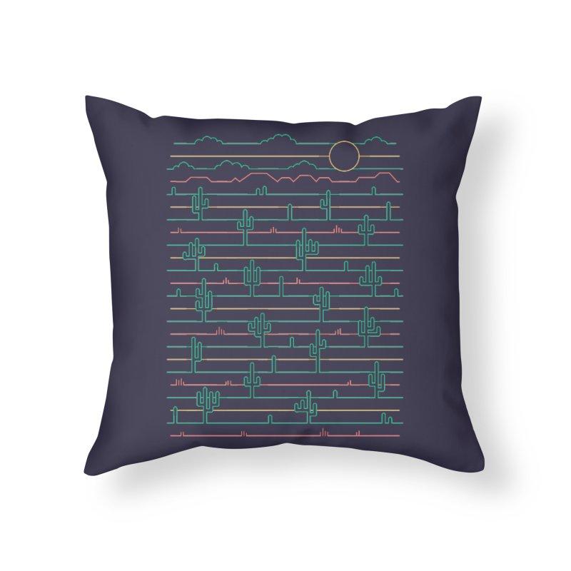Saguaro Sunrise Home Throw Pillow by thepapercrane's shop
