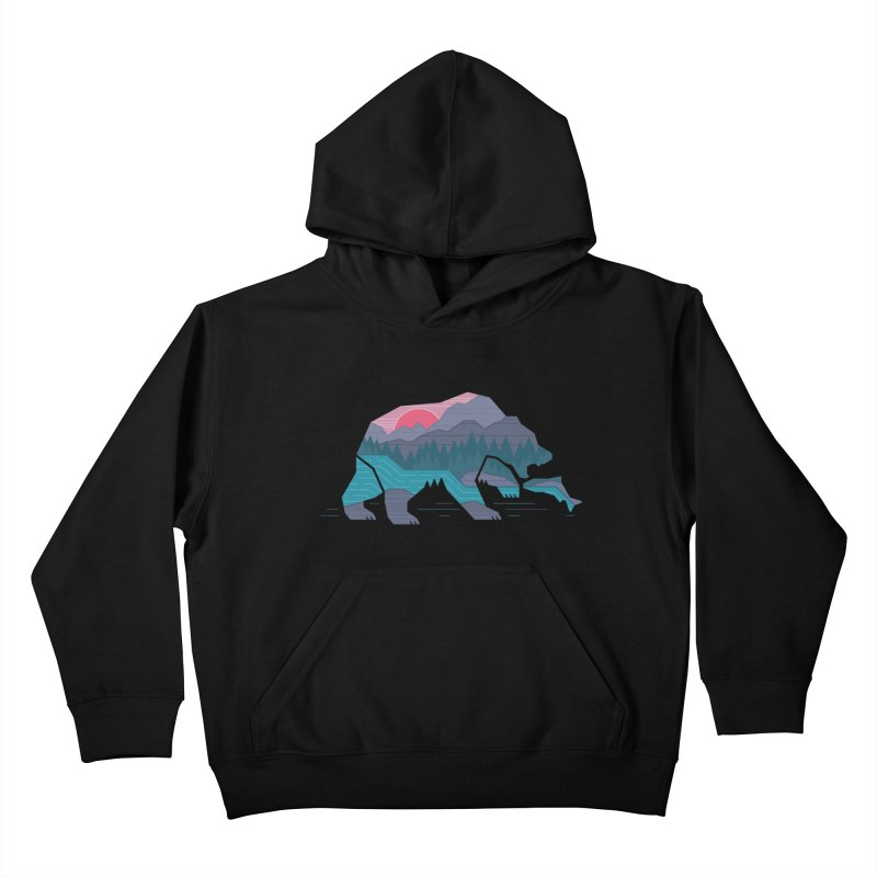 Bear Country Kids Pullover Hoody by thepapercrane's shop