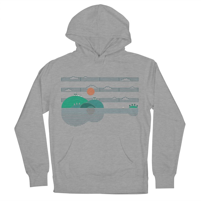 Island Folk Women's French Terry Pullover Hoody by thepapercrane's shop