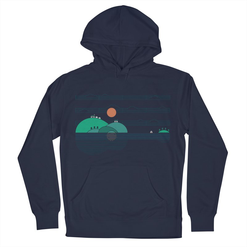 Island Folk Men's French Terry Pullover Hoody by thepapercrane's shop