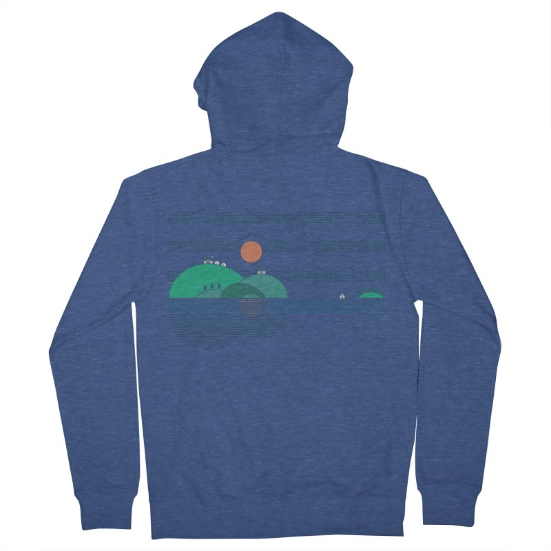 Island Folk Men's Zip-Up Hoody by thepapercrane's shop