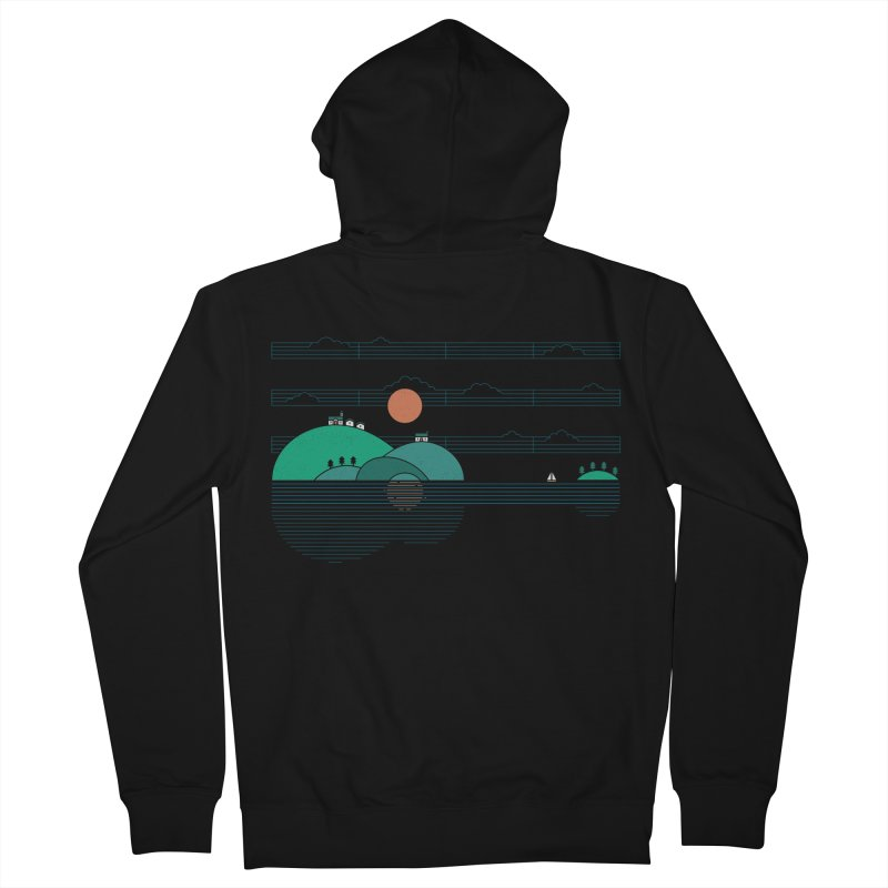 Island Folk Men's French Terry Zip-Up Hoody by thepapercrane's shop
