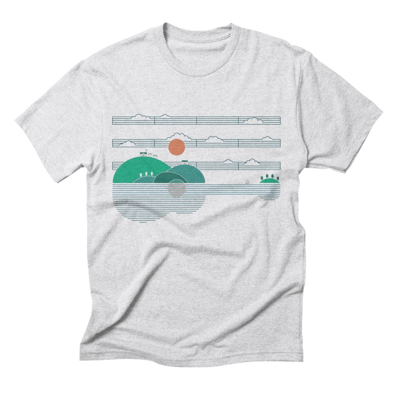 Island Folk Men's Triblend T-Shirt by thepapercrane's shop
