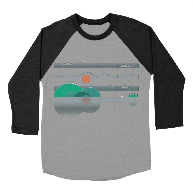 Island Folk Women's Baseball Triblend Longsleeve T-Shirt by thepapercrane's shop