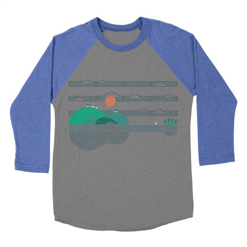 Island Folk Men's Baseball Triblend T-Shirt by thepapercrane's shop