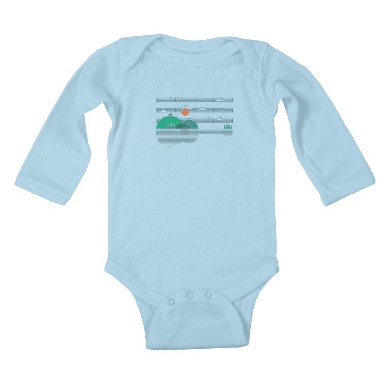 Island Folk Kids Baby Longsleeve Bodysuit by thepapercrane's shop