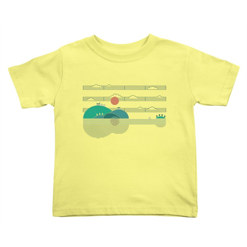 Island Folk Kids Toddler T-Shirt by thepapercrane's shop