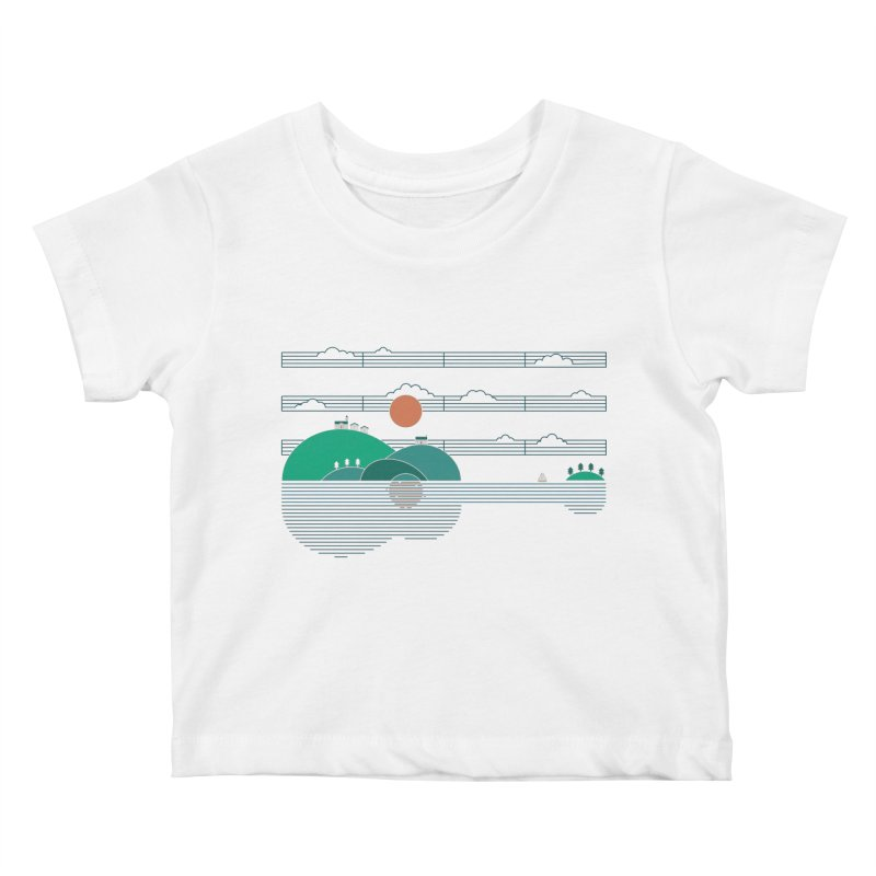 Island Folk Kids Baby T-Shirt by thepapercrane's shop