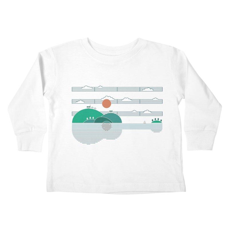 Island Folk Kids Toddler Longsleeve T-Shirt by thepapercrane's shop