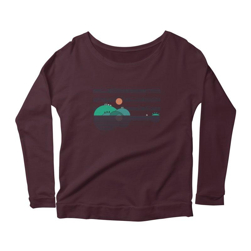 Island Folk Women's Scoop Neck Longsleeve T-Shirt by thepapercrane's shop