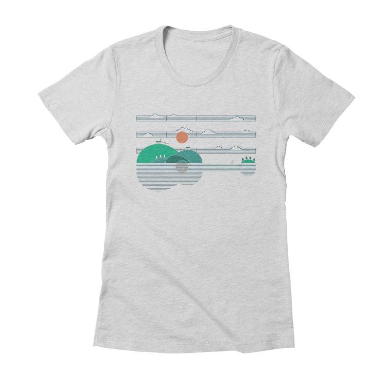 Island Folk Women's Fitted T-Shirt by thepapercrane's shop